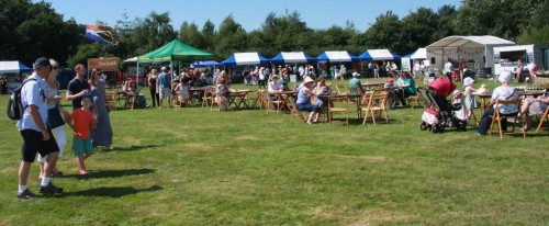 Stalls at the Wealden Food and Drink Fair