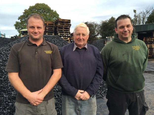 The father and sons team who run R A Blackford coal merchants. From the left are Richard, Alan and Philip.