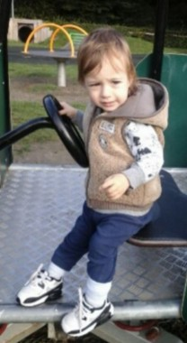 Missing - Daniel Tomoiga, pictured on the Hempstead Lane play area