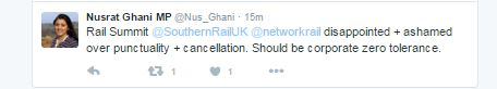 What Nus Ghani, Wealden MP, said on her Twitter account