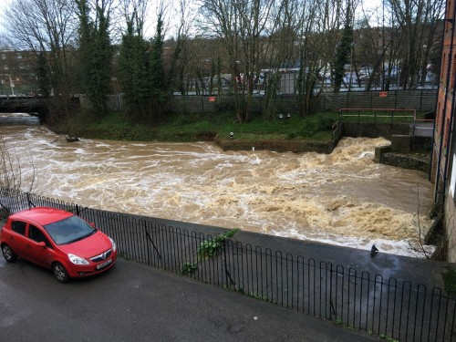 River Uck from offices of Oldfield Smith January, 5 2016