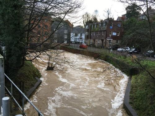 River Uck in spate January 15, 2016