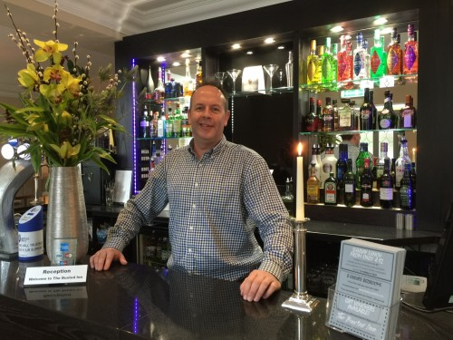 The Buxted Inn owner Jason Bailey in the new bar area following refurbishment.