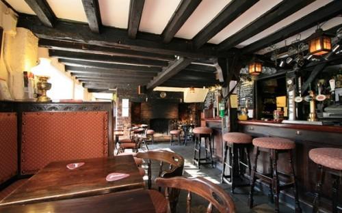 The bar of the Cock Inn at Ringmer