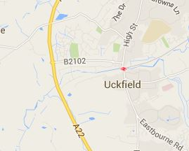 uckfield by-pass map (Google)