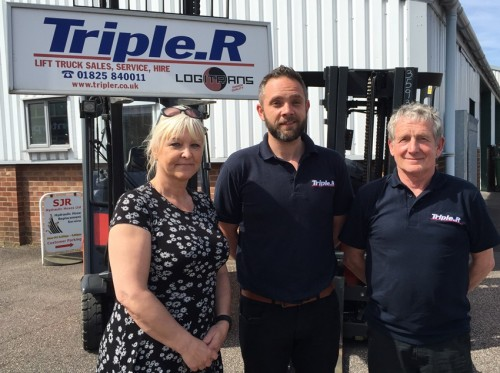 Jane, Simon and Rob Wadey who run SJR Hydraulic Hoses and Triple R Forklifts, new to the Bellbrook Industrial Estate, Uckfield.