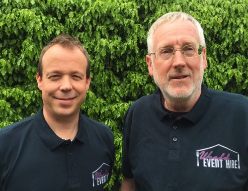 Gary Mitchell and Keith Wilson of Weald Event Hire.