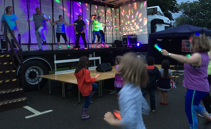 Clubbercise during the Queens' 90th birthday celebrations at the Victoria Pleasure Ground