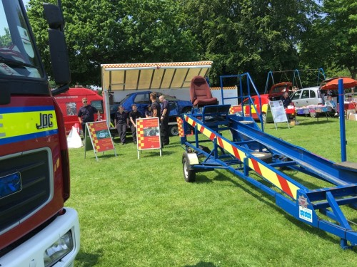 Seat-belt sled at the East Sussex Fire and Rescue stand