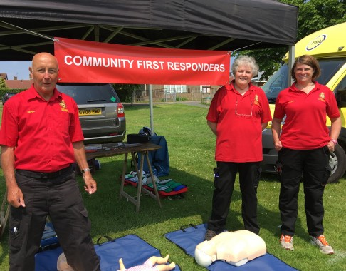 Field First Responders (from left)  Derek Smith, team leader; Faith Lee, associate trainer and responder; and Helen Fairs, responder