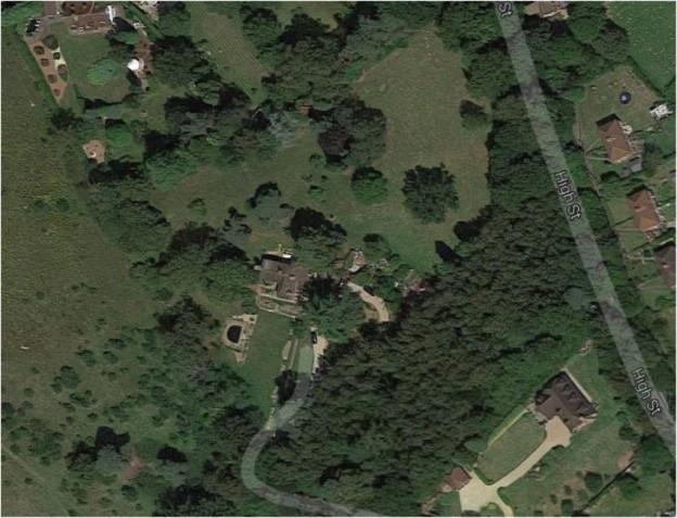 Furnace Bank House, Maresfield, Google Earth