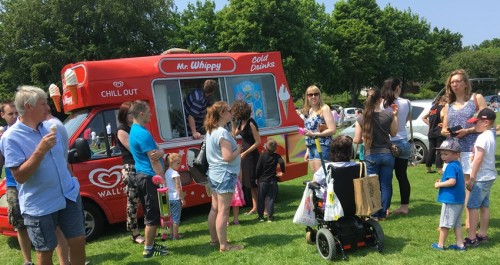 Ice cream sales at Lions Big Day