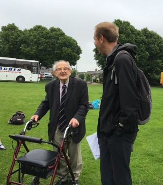 One of the pioneers of the road safety event in Uckfield, former councillor Jim Molesworth Edwards