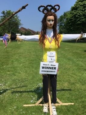 An entry in the scarecrow competition