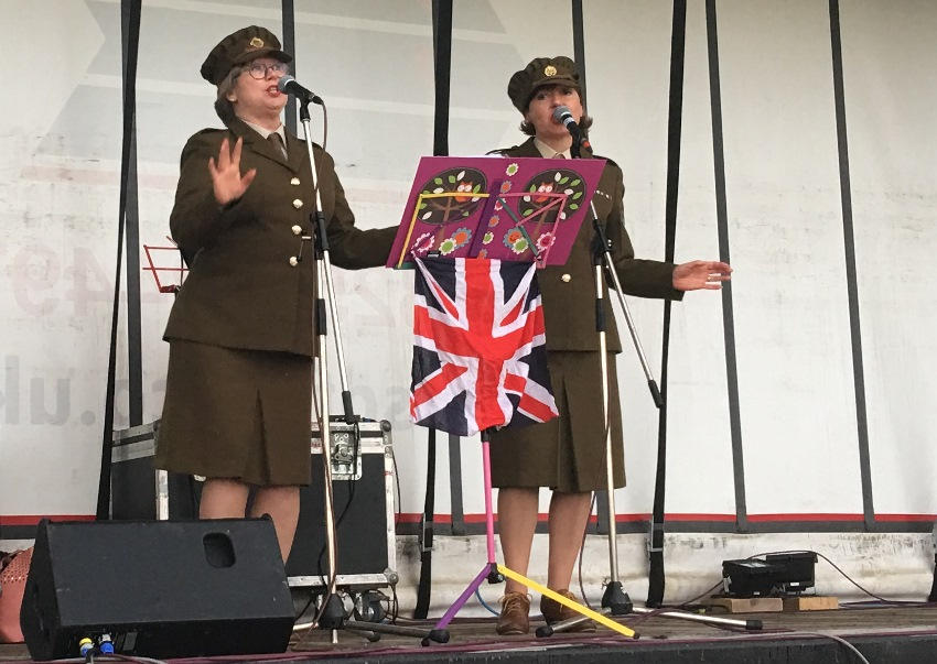 Victory Vs at Queen's 90th birthday celebrations in Uckfield