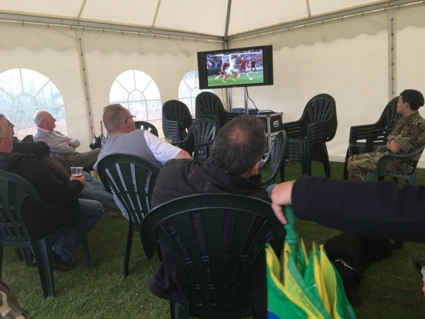 Watching England v Russia in Euro 2016