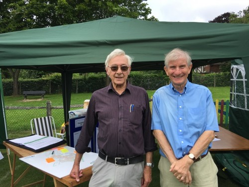 John Carvey and Paul Meakin of the Uckfield Neighbourhood Plan Steering Group