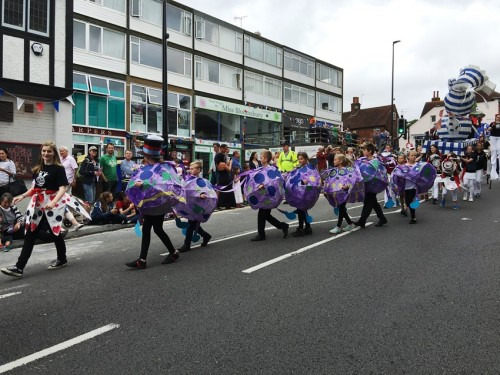 The parade heads down Uckfield High Street