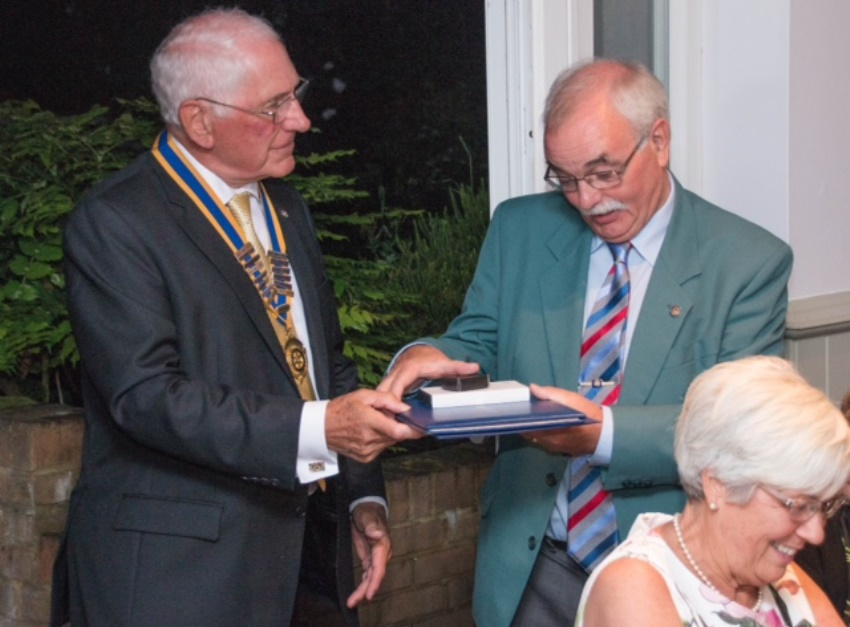 Jeff Holman receives highest award in Rotary   Uckfield News
