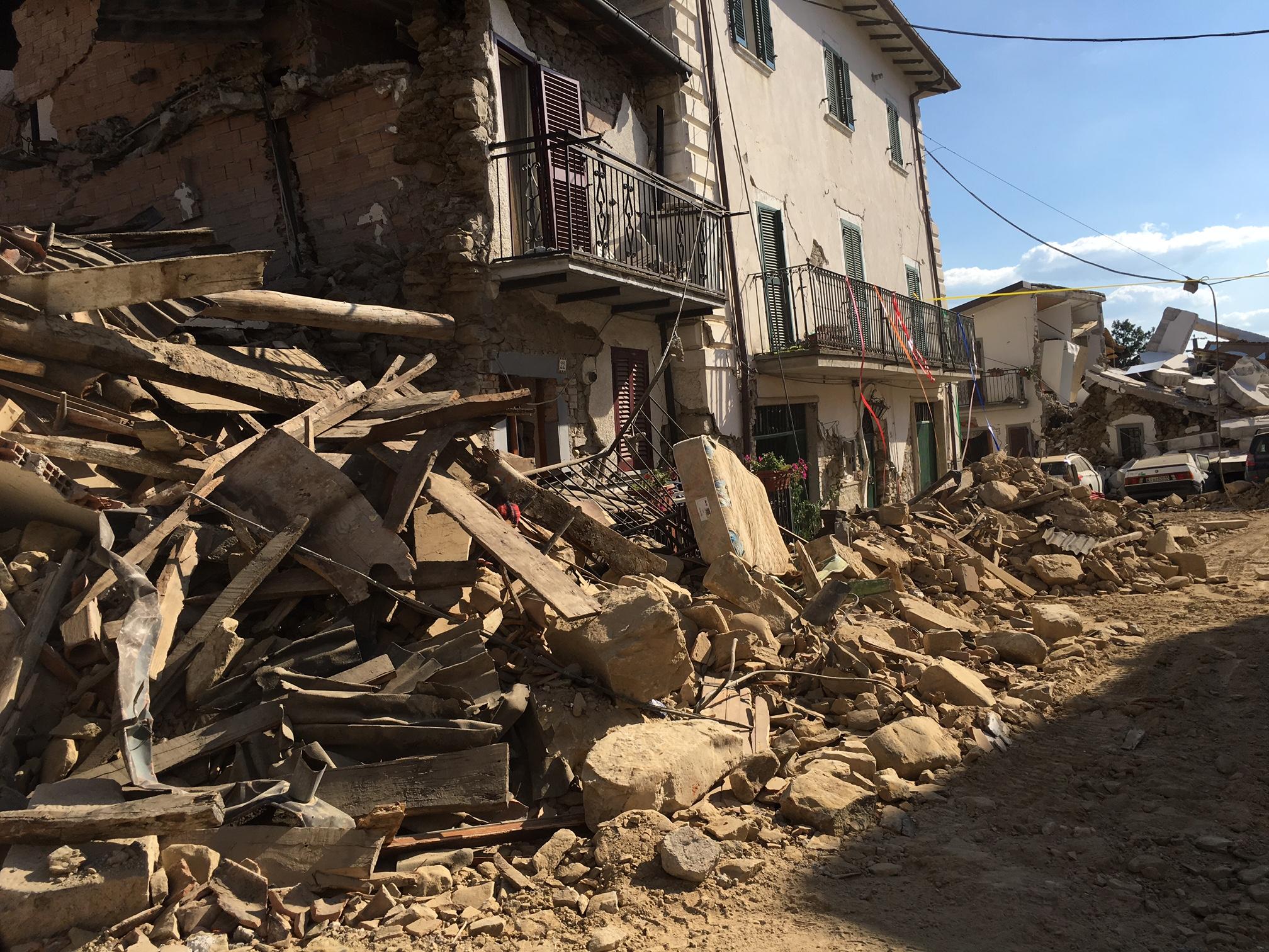 Italy quake - Sbox photo of Amatrice wreckage