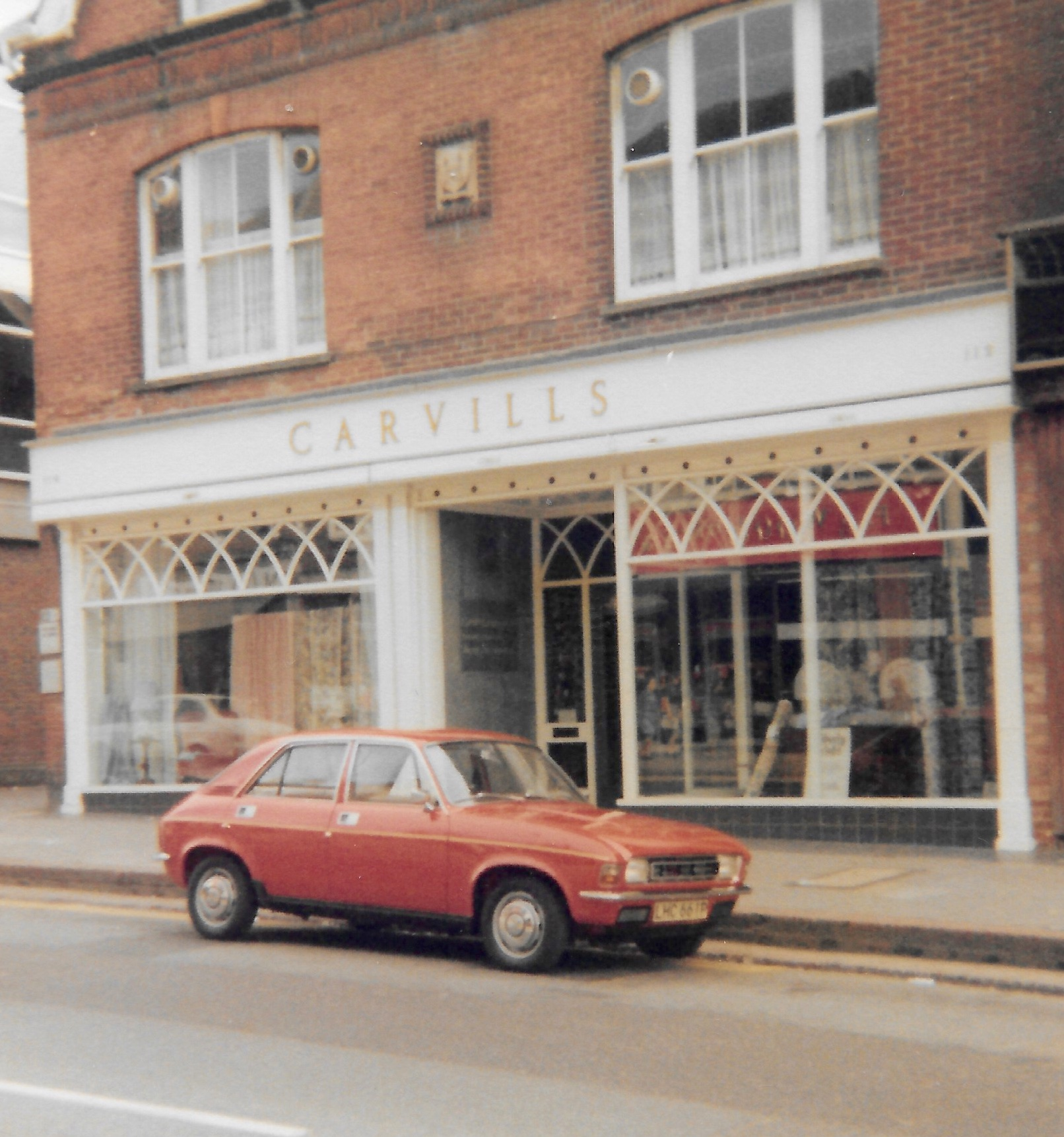 LHC661P Austin Allegro-carvills-1979-shop-window-added-1970