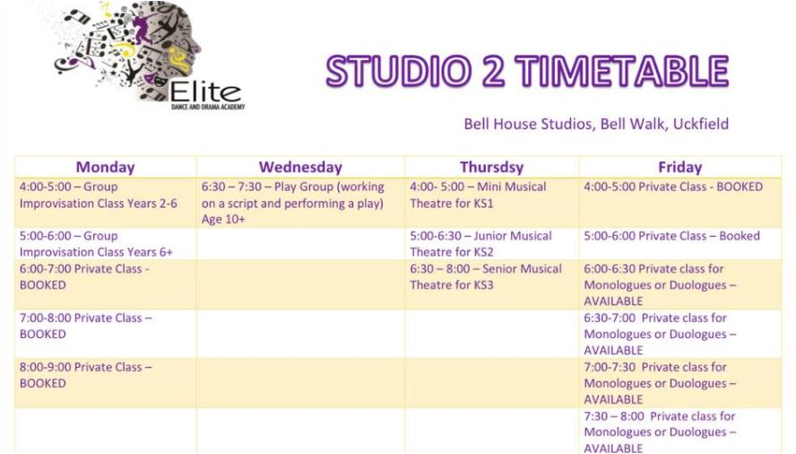 elite-studio-2-timetable
