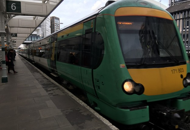 An afternoon Uckfield Line train arrives at East Croydon (stock photograph)