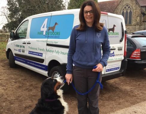 Dog walker Maria Bradley