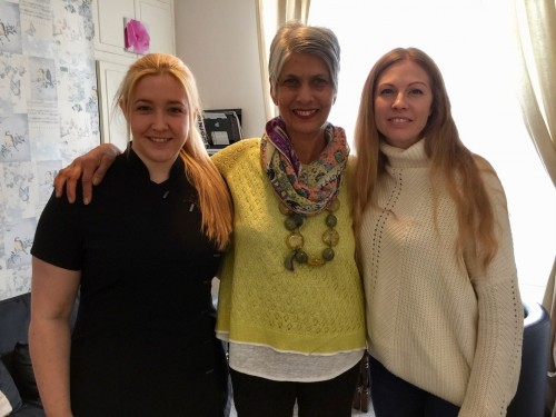 The new owner of Element Health and Wellbeing Ayesha Kettell, is pictured centre, with beauty therapist Samantha Hartley, left, and Samantha Holman, previous owner of the business.