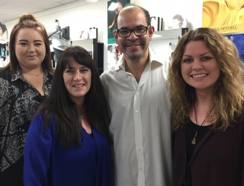 The team at Martinez Hair Salon, Blackboys. From the left are: Emily Simpson, Sharon Mills, Luis Martinez and Karla Brown.