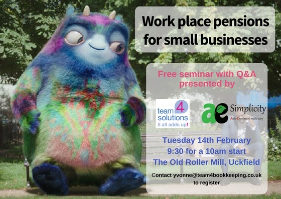 team 4 workplace pensions poster