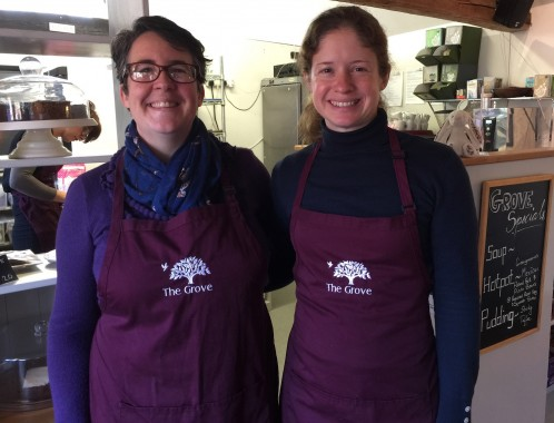 Emma Doherty and Sarah Wright at The Grove Farmhouse Cafe in Blackboys where the emphasis is on fresh home-cooked food with daily hotpot specials.