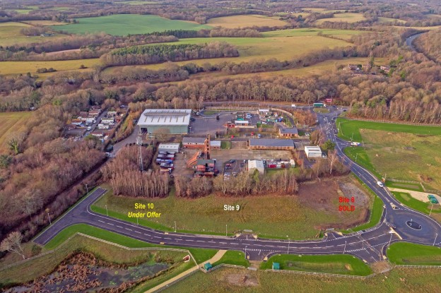 An aerial view of the Ashdown Business Park