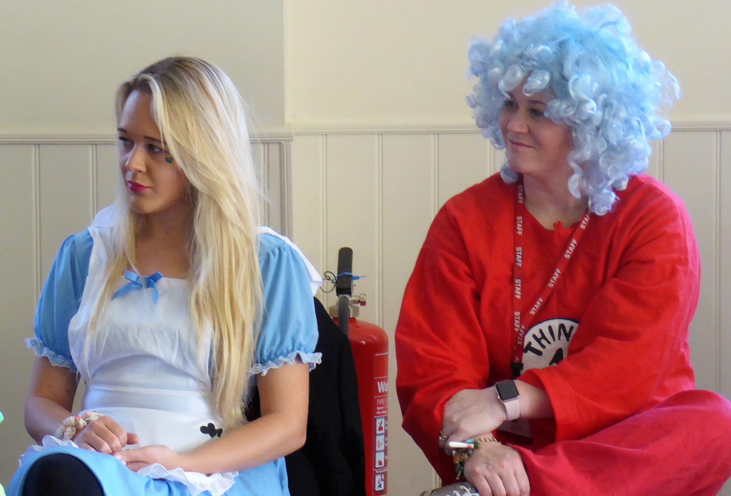 Pic 6 - Holy Cross Staff as Alice in Wonderland and Thing 1