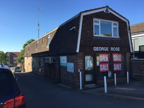 Part of george rose premises at buxted could be turned for Gardening tools uckfield