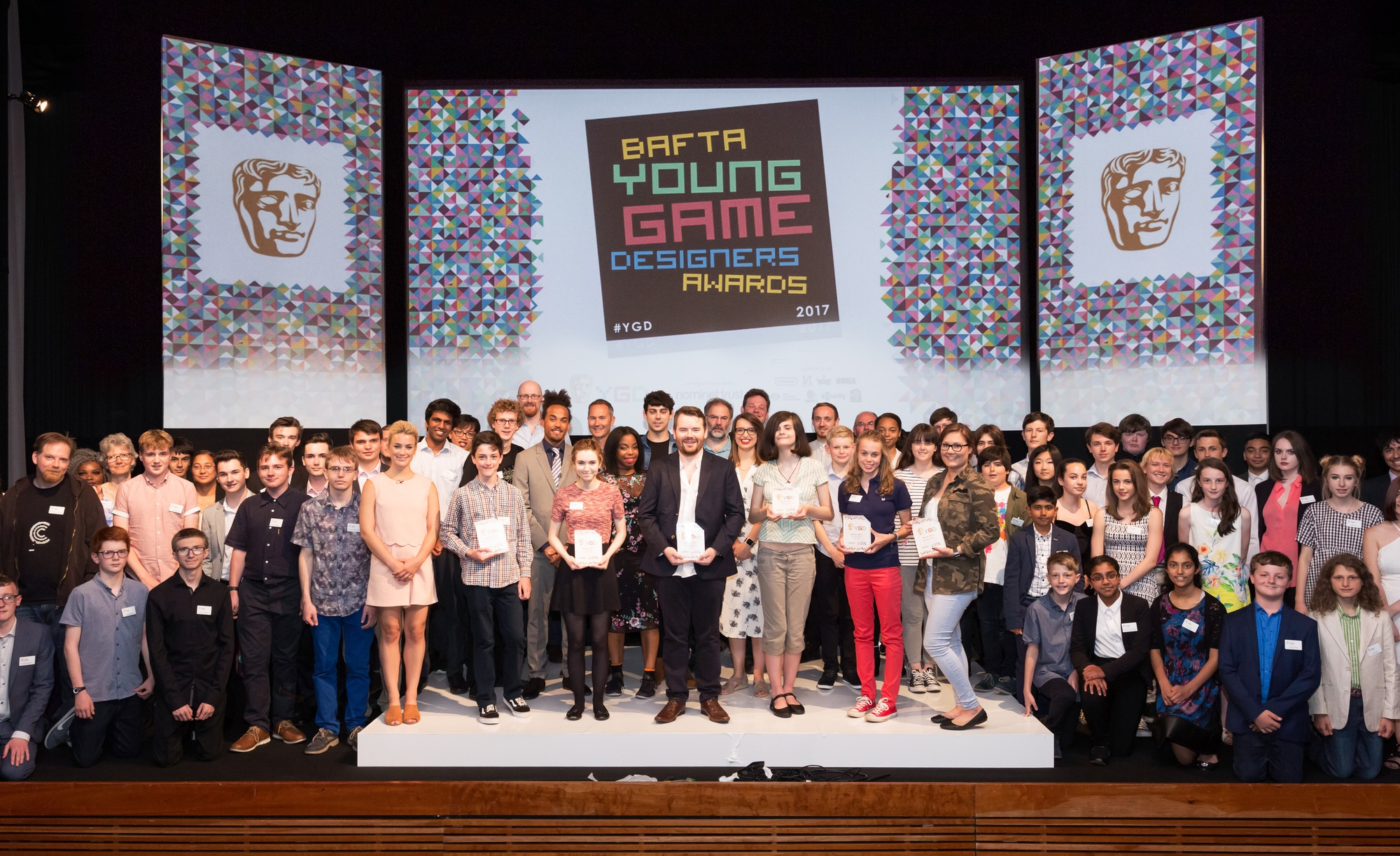 Event: BAFTA Young Game Designers AwardsDate: Saturday 8 July 2017Venue: BAFTA, 195 PiccadillyHosts: -Area: Group Shots