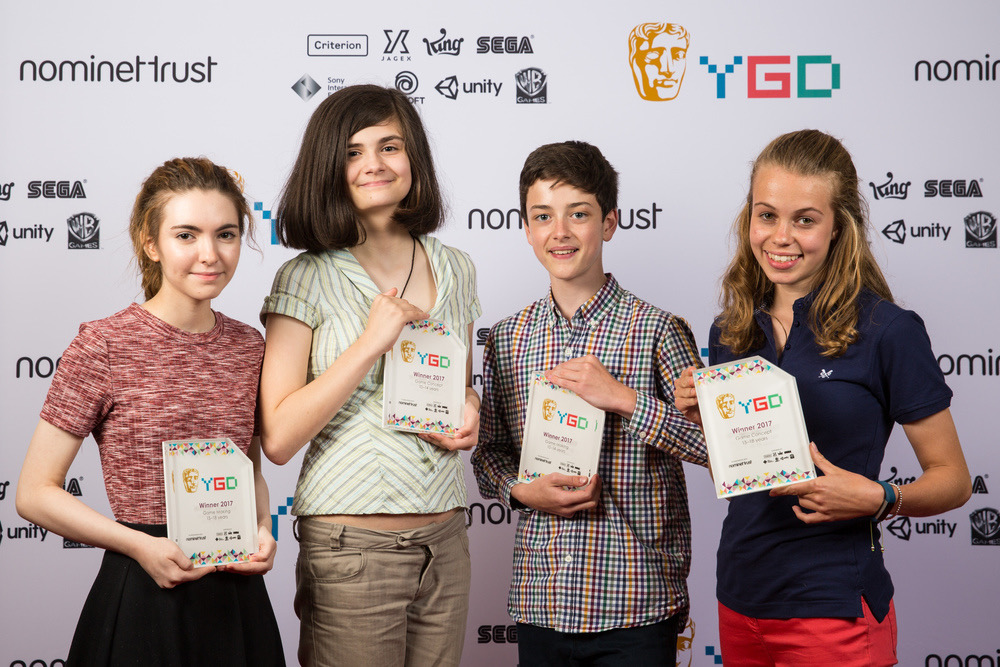 Event: BAFTA Young Game Designers AwardsDate: Saturday 8 July 2017Venue: BAFTA, 195 PiccadillyHosts: -Area: Winners Branding Board