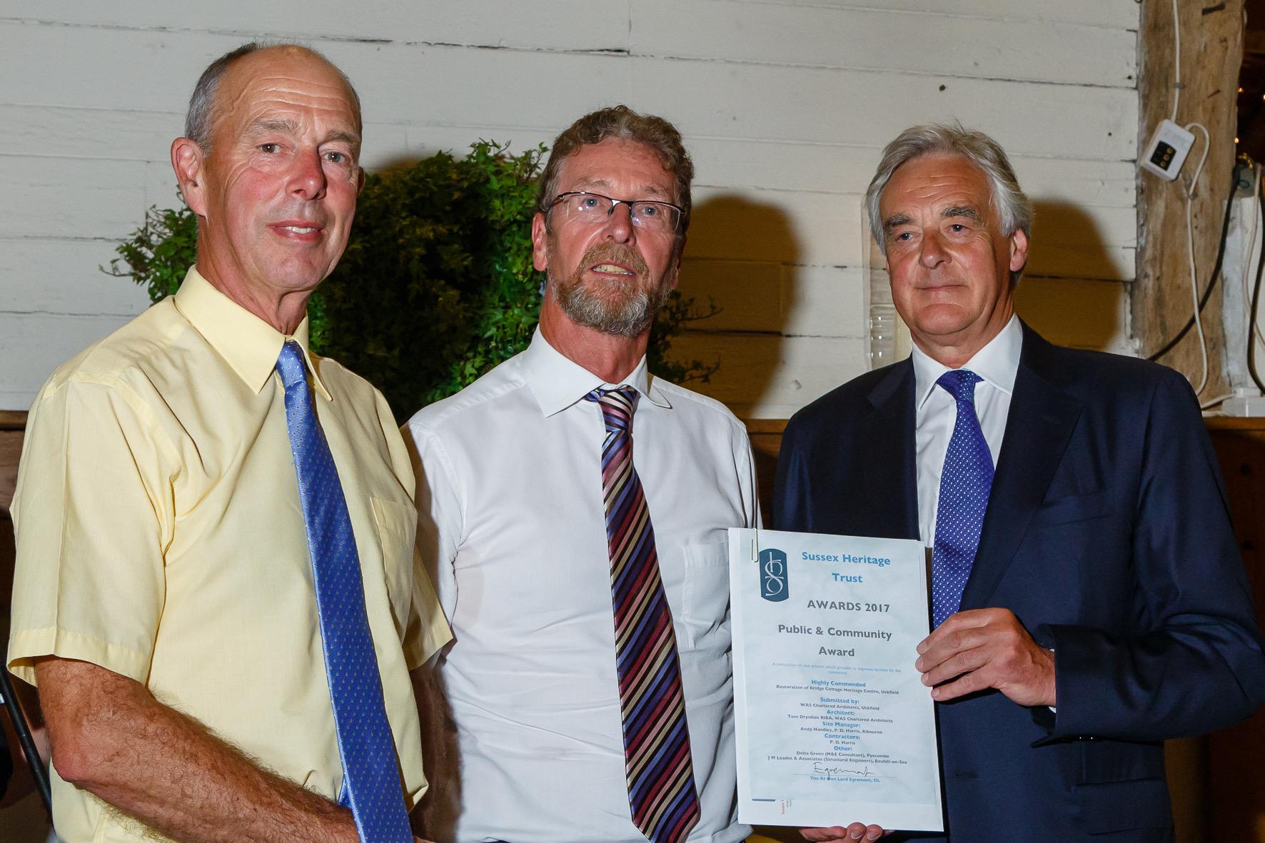 Restoration of Bridge Cottage Tom Drysdale Mick Harker and Lord Egremont