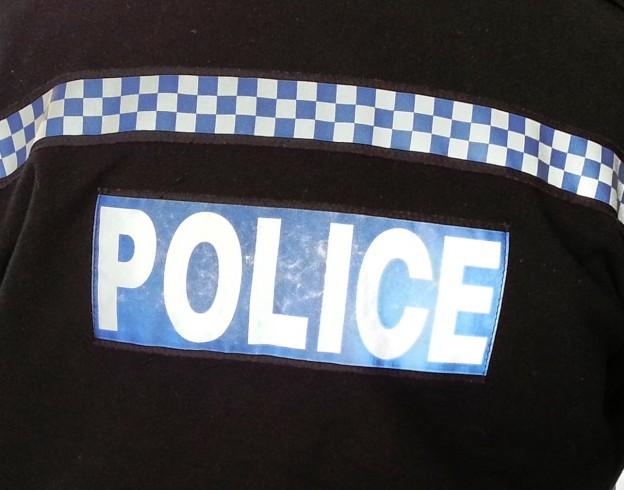 police-jacket-sign