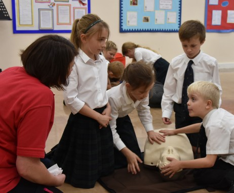 Alnwick pupils learn CPR on Restart a Heart Day