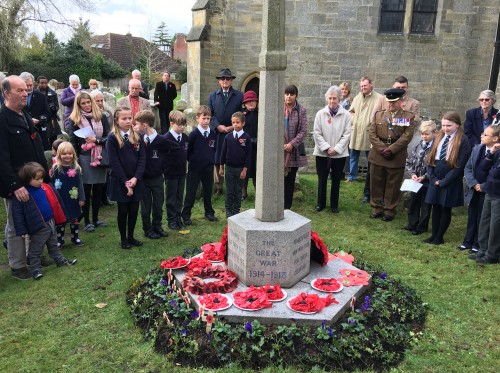 A moment of reflection in memory of the Fallen of Maresfield