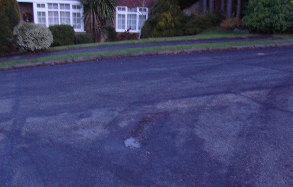 Oaklea way damaged surface