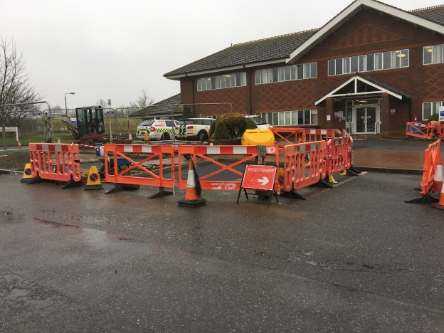 One of the first changes in Uckfield Hospital car park was the removal of the former bus stop and shelter