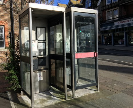 Town centre payphones