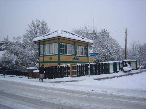 Uckfield Signal Box In The Snow Which Fell Before Christmas In 2010