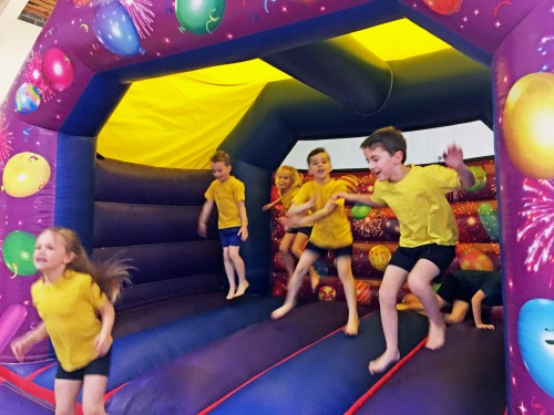On the bouncy castle, which was proved by KSB Inflatables