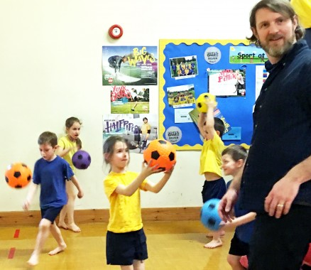 Children moved through a series of activities at Harlands Primary School sponsored bounce, including bouncing balls