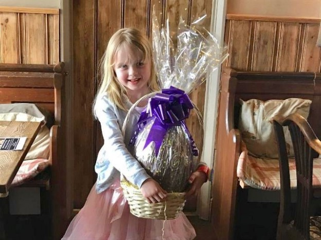 One of the Easter Eggs from a raffle organised by Uckfield Lions to raise funds for the Kent, Sussex and Surrey Air Ambulance.