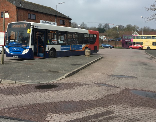 Uckfield bus station in April 2018