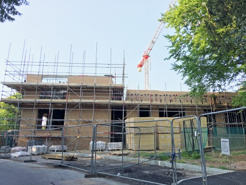 Construction of Grants Hill Court as seen from Oaklea Way approach